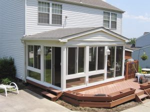 house with enclosed porch