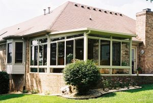 sunroom on brick house