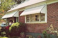 white awnings