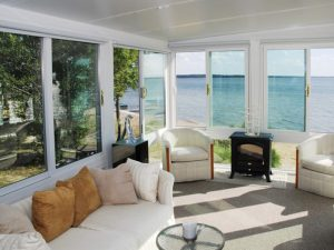 sunroom on lake front
